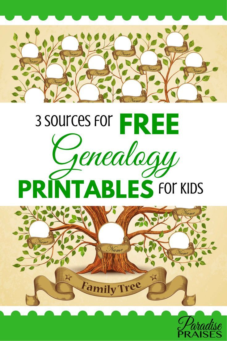 3 Sources For Free Genealogy Printables For Kids Christian
