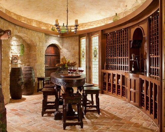 Rustic Cobblestone Tile Flooring Mediterranean Wine
