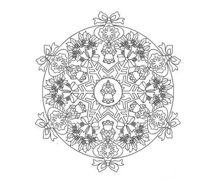 Mandala Engel Motiv Weihnachten Gratis Ausdrucken Christmas Diy Kids Mandala Weihnachtsmalvorlagen Mandala Malvorlagen Ausdrucken