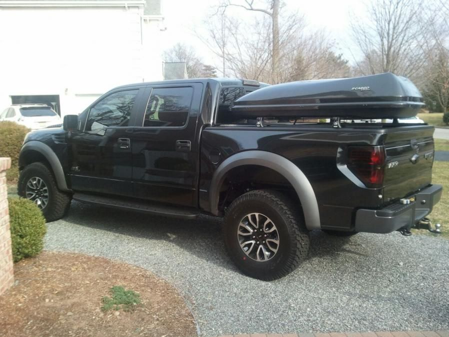 Added A Thule Rack And Cargo Box Over Retrax Pro Ford Raptor Forum Ford Svt Raptor Forums Thule Rack Ford Raptor Ford Raptor Forum