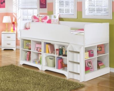 Lulu Twin Loft Bed With 2 Bookcases By Ashley Homestore