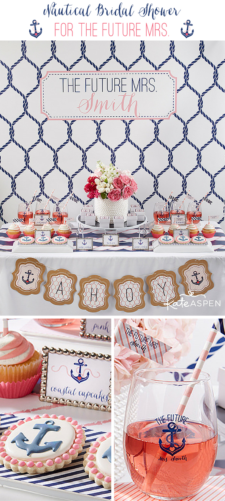 Celebrate The Future Mrs With A Preppy Nautical Themed Bridal Shower