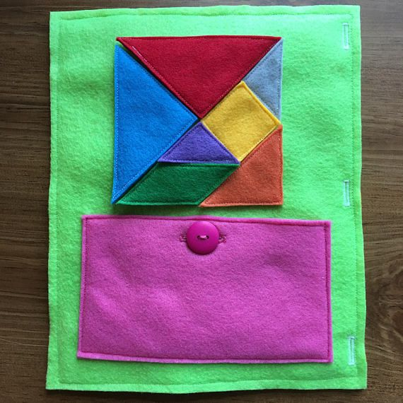 TANGRAM Quiet Book Page: - Your toddler will be able to organize and ...