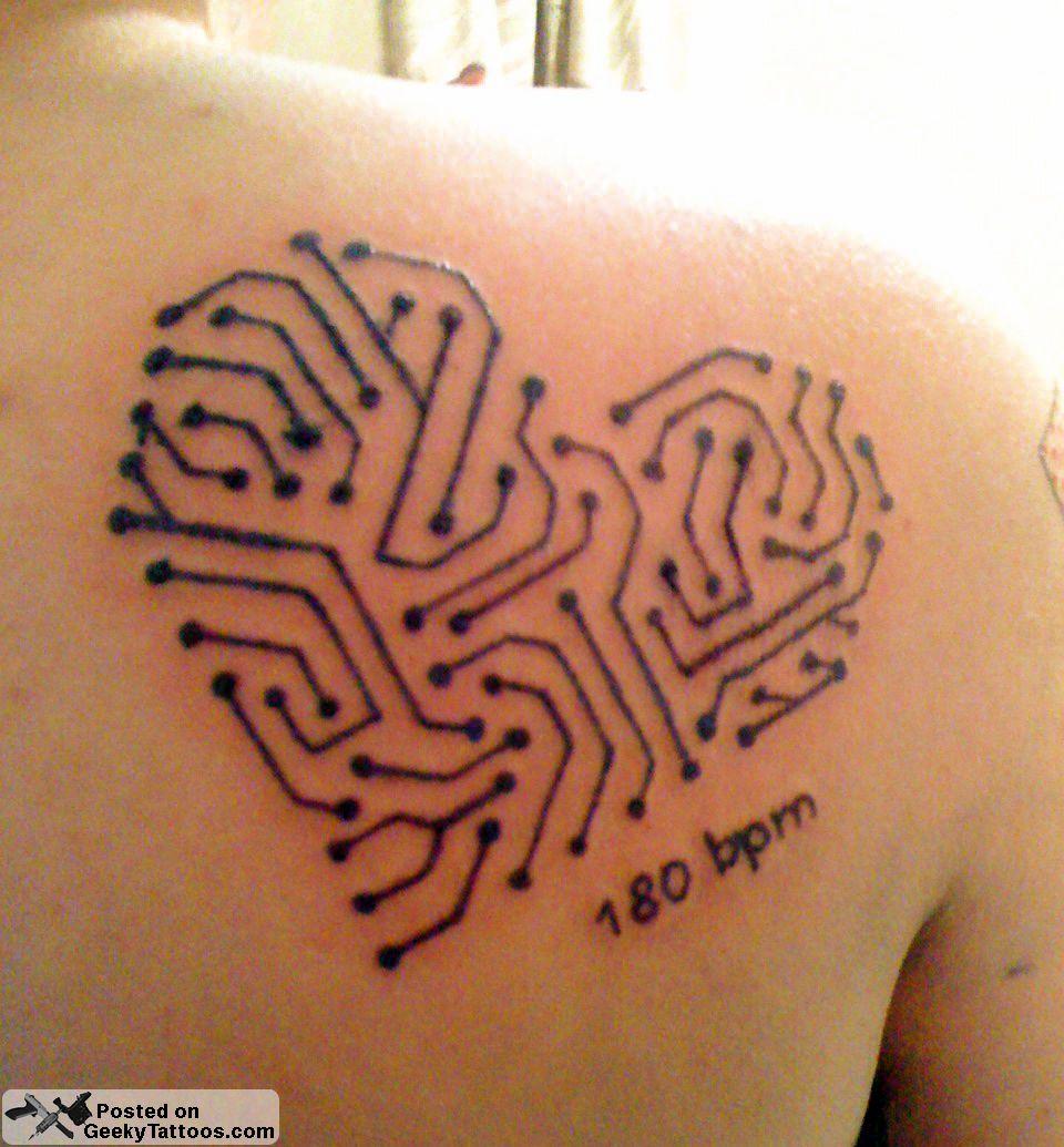 Tattoos, Heart Tattoo, Computer Tattoo