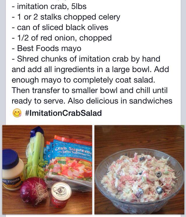 imitation crab salad  imitation crab salad imitation crab best foods