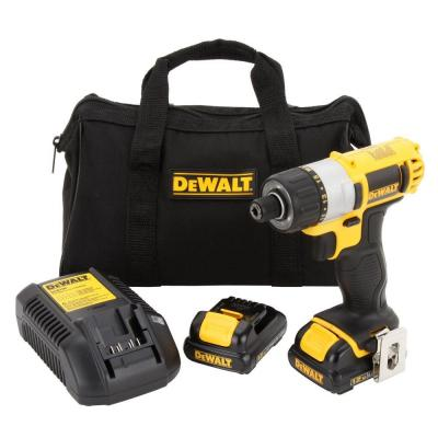 Dewalt 12 Volt Max Lithium Ion 1 4 In Cordless Screwdriver Kit Dcf610s2 The Home Depot Dewalt Cordless Drill Reviews Cordless Screwdrivers