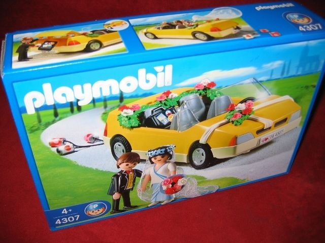 PLAYMOBIL® 4307 WEDDING CAR WITH BRIDE AND GROOM BRAND NEW SEALED RARE!!