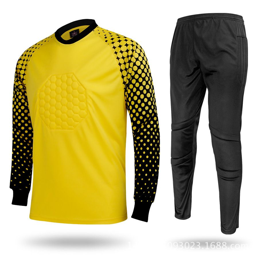 New Adult Football Jersey Set Soccer Goalkeeper Goalkeeper Suit Football Clothes Men Soccer Uniforms Football Outfits Clothes Sport Outfits
