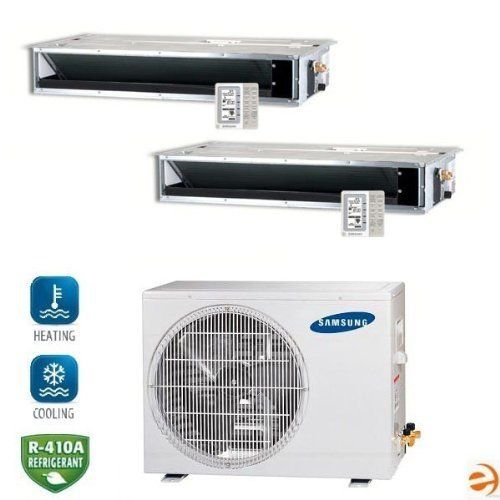 Mh050fxca2a Mh026fecax2 Dual Zone Concealed Ceiling Mini Split Heat P By Samsung 2941 95 Samsung Mh050fxca2 Heat Pump Air Conditioner Accessories Cool Stuff