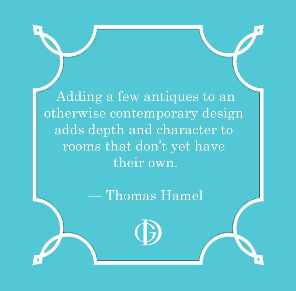 Adding depth + character to a room #ThomasHamel #design #quotes