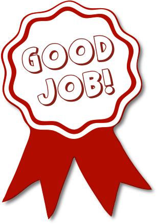 Good Job Red Ribbon Clipart   Employee rewards, Good job ...