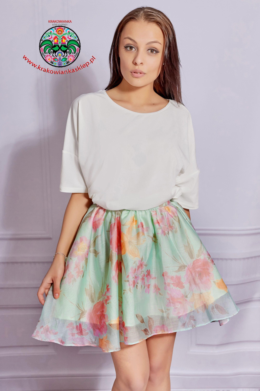 Wiosenna Spodniczka W Kwiaty Fashion Floral Skirt Skirts