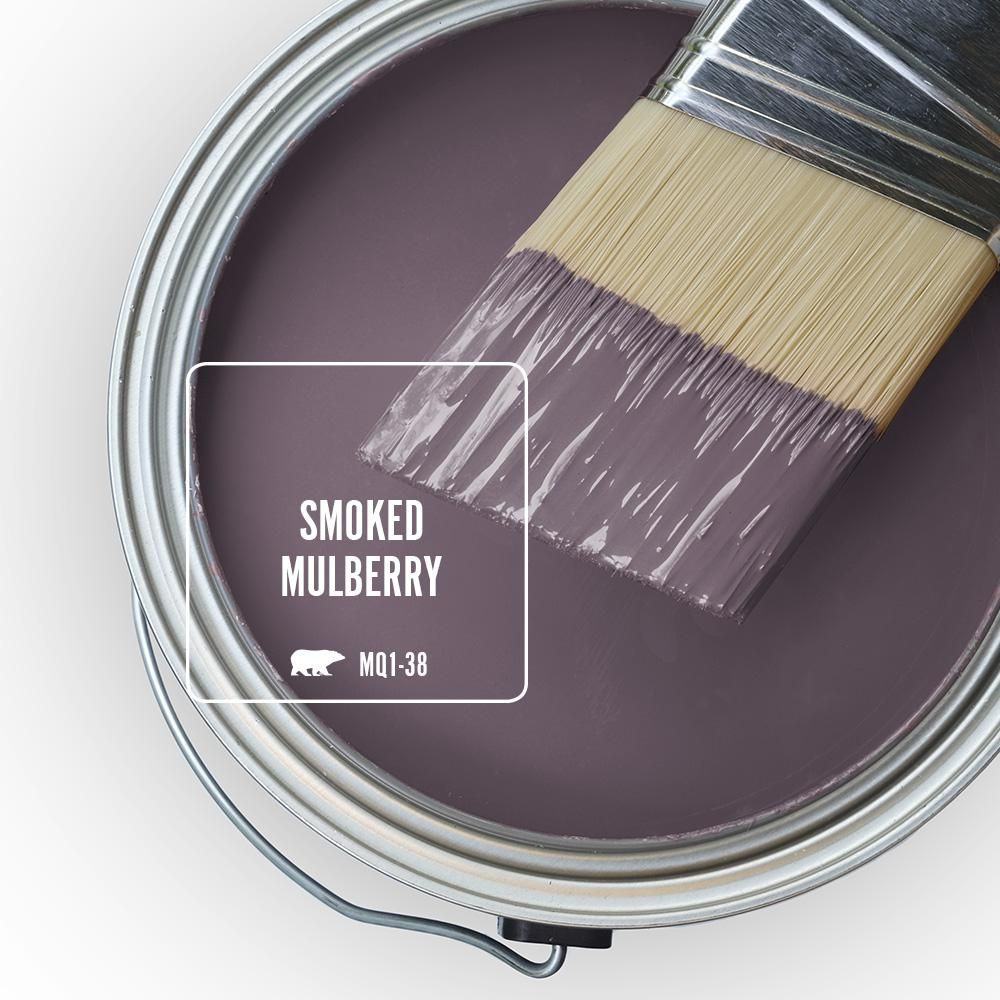 BEHR MARQUEE 1 gal. #MQ1-38 Smoked Mulberry Semi-Gloss Enamel Exterior Paint and Primer in One-545301 - The Home Depot
