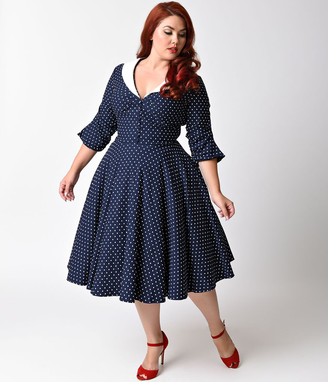 Plus Size Vintage Dresses, Plus Size Retro Dresses in 2019 | Curvy ...