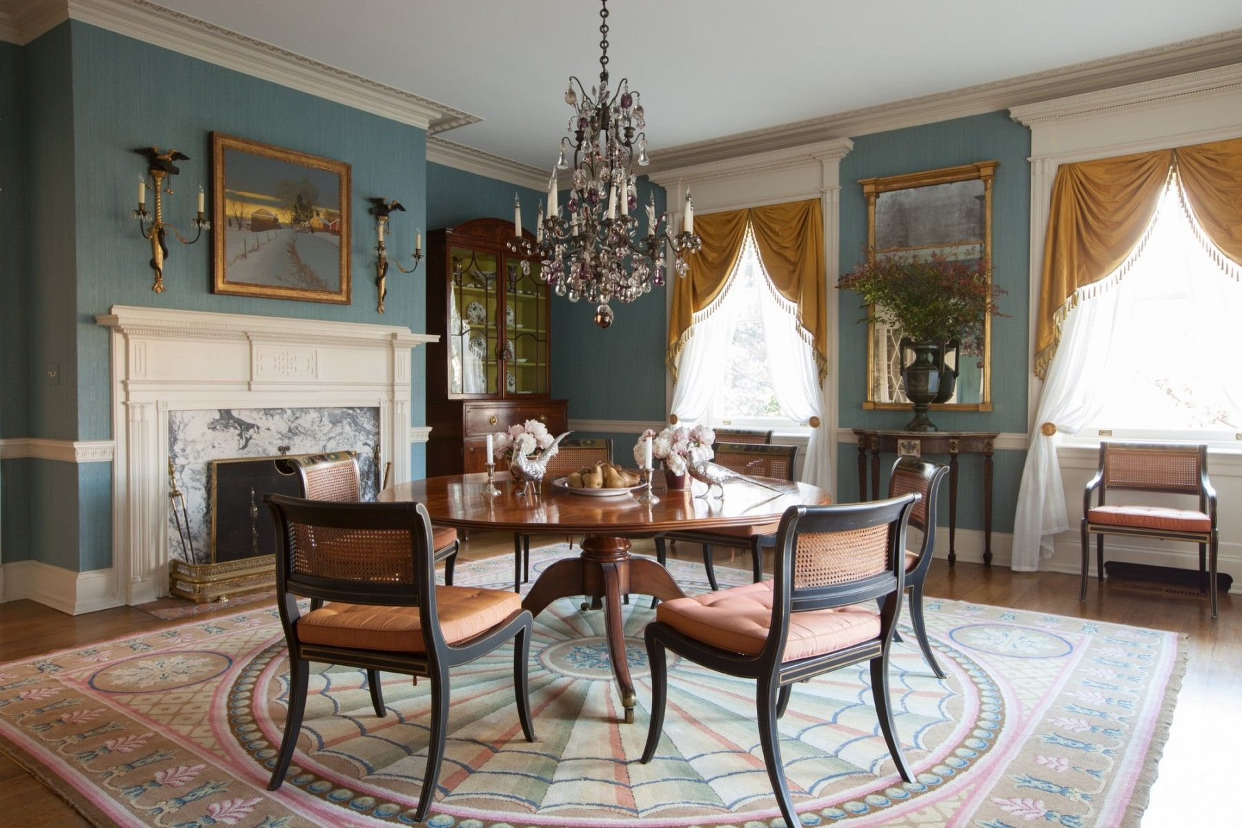 Delaware House Brockschmidt And Coleman Dining Room Fireplace Chic Dining Room Stylish Dining Room
