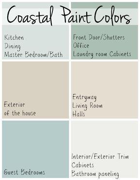 Coastal Paint Colors - The Lilypad Cottage #beachhouse