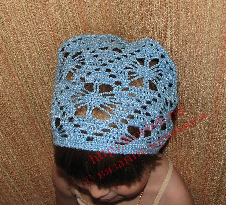 Детская вязаная косынка крючком | Háčkování H | Pinterest