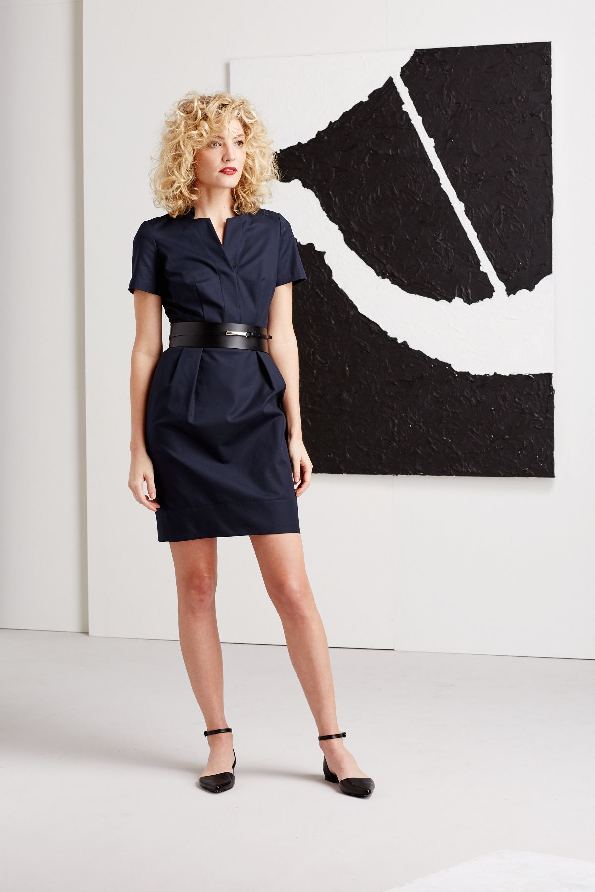 Blue Metropolitan Stretch Yaelle Dress