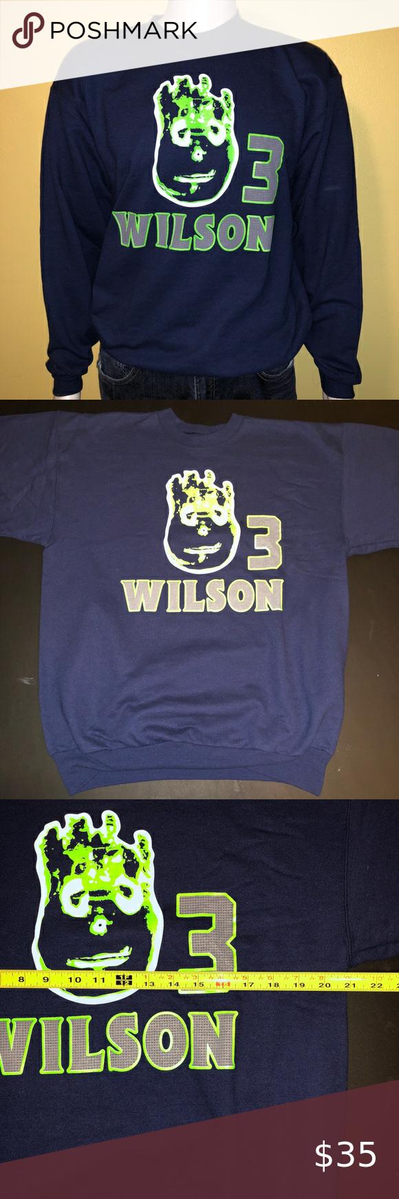 Predownload: Russell Wilson Crewneck Sweatshirt In 2020 Crew Neck Sweatshirt Sweatshirts Sweatshirt Shirt [ 1740 x 580 Pixel ]