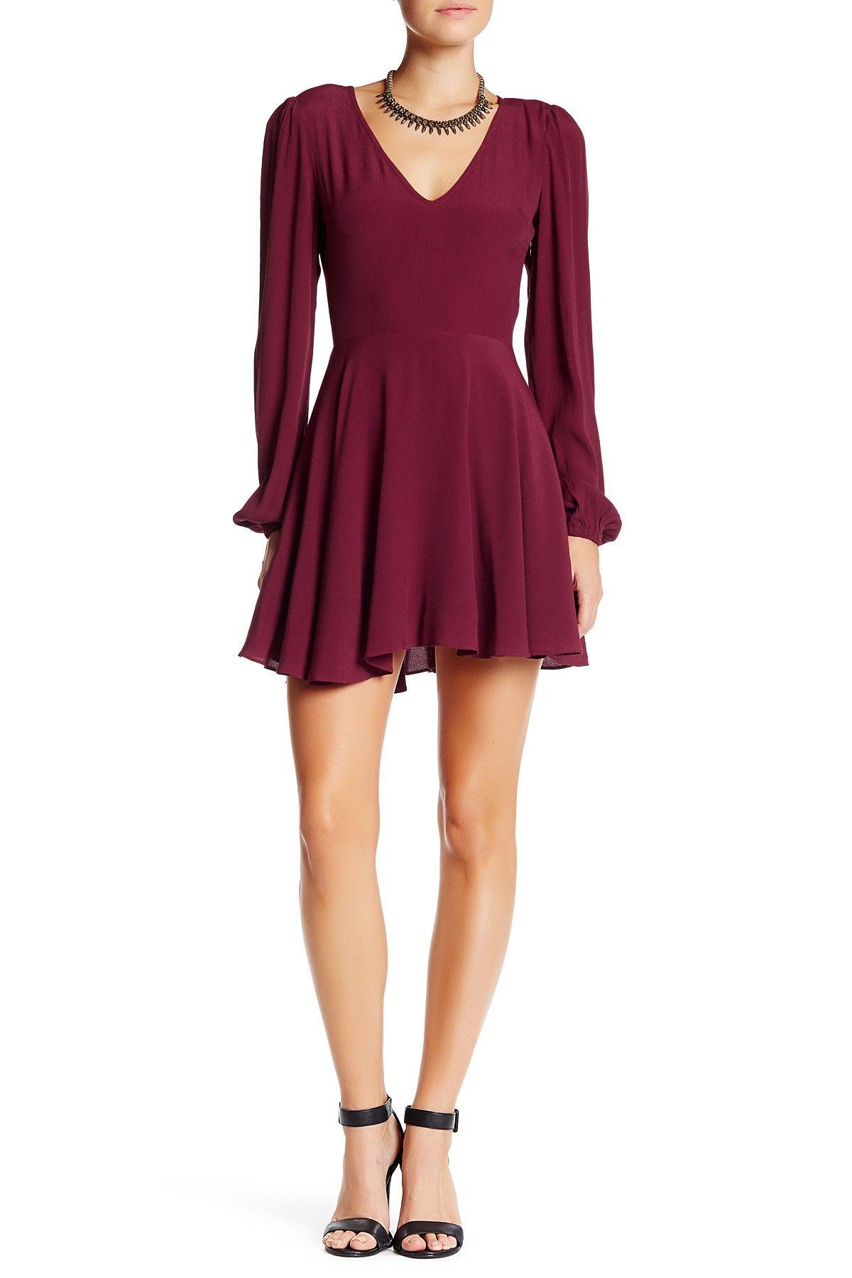 Shimmy Long Sleeve Fit N Flare Dress Fit N Flare Dress Flare Dress Dresses [ 1800 x 1200 Pixel ]