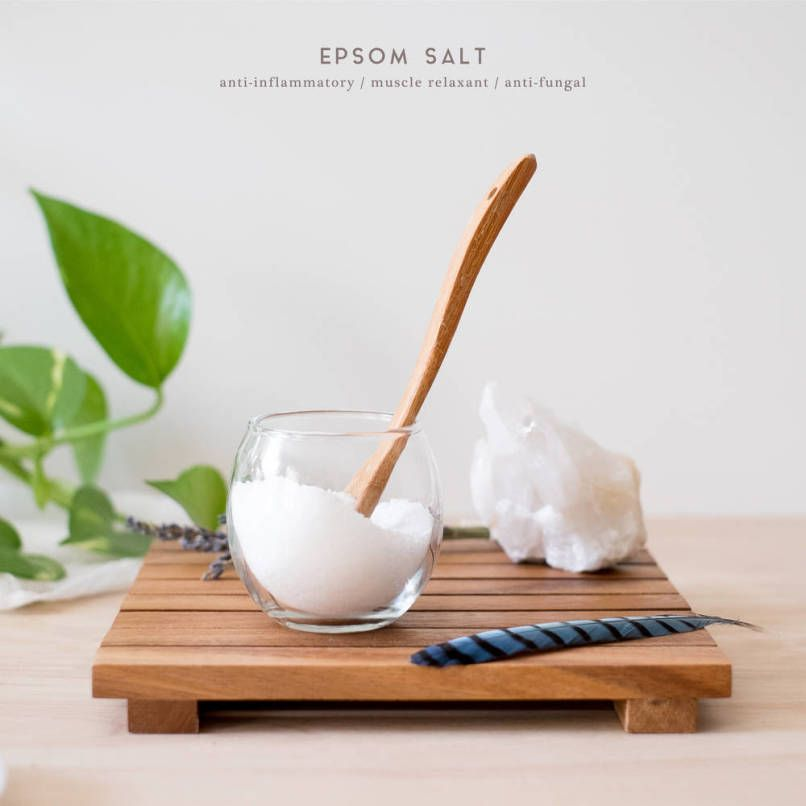 An epsom salt bath is the perfect solution to a stressful day.