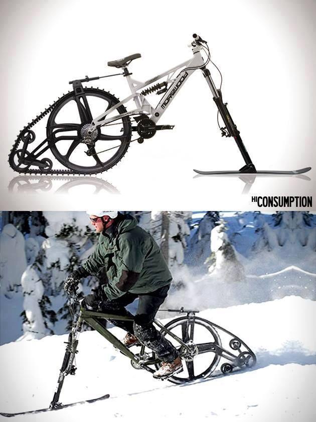 Ktrak Snowmobile Mountain Bike Kit Omg I Want This For The Winter