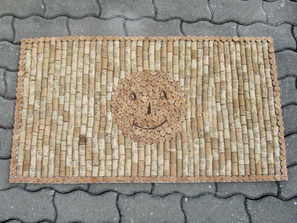 Artesanato Indiano Em Lisboa ~ Tapete de Rolhas de Cortiça Artesanato e Reciclagem Com Passo a Passo Artesanato e
