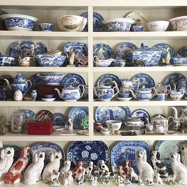 I am at a good friend's house helping him pack all these treasures for a big move next week! #blueandwhite #transferware #lifelongcollector #taughtmeeverythingiknow