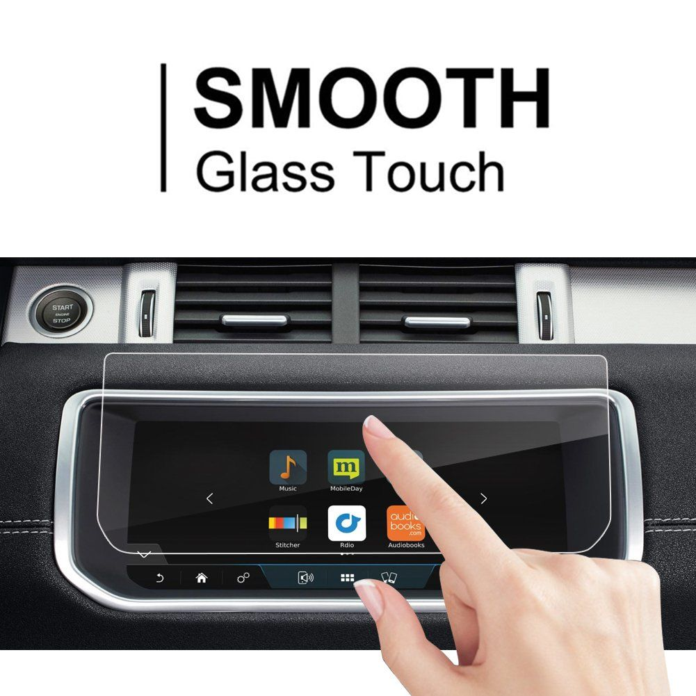 RUIYA HD Clear TEMPERED GLASS Car In-Dash Screen Protective Film 2017 Nissan Rogue Sport NissanConnect 7-Inch Touch Screen Car Display Navigation Screen Protector