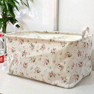 Zakka fluid fabric storage bag box oversized folding laundry basket clothes quilt toy storage box