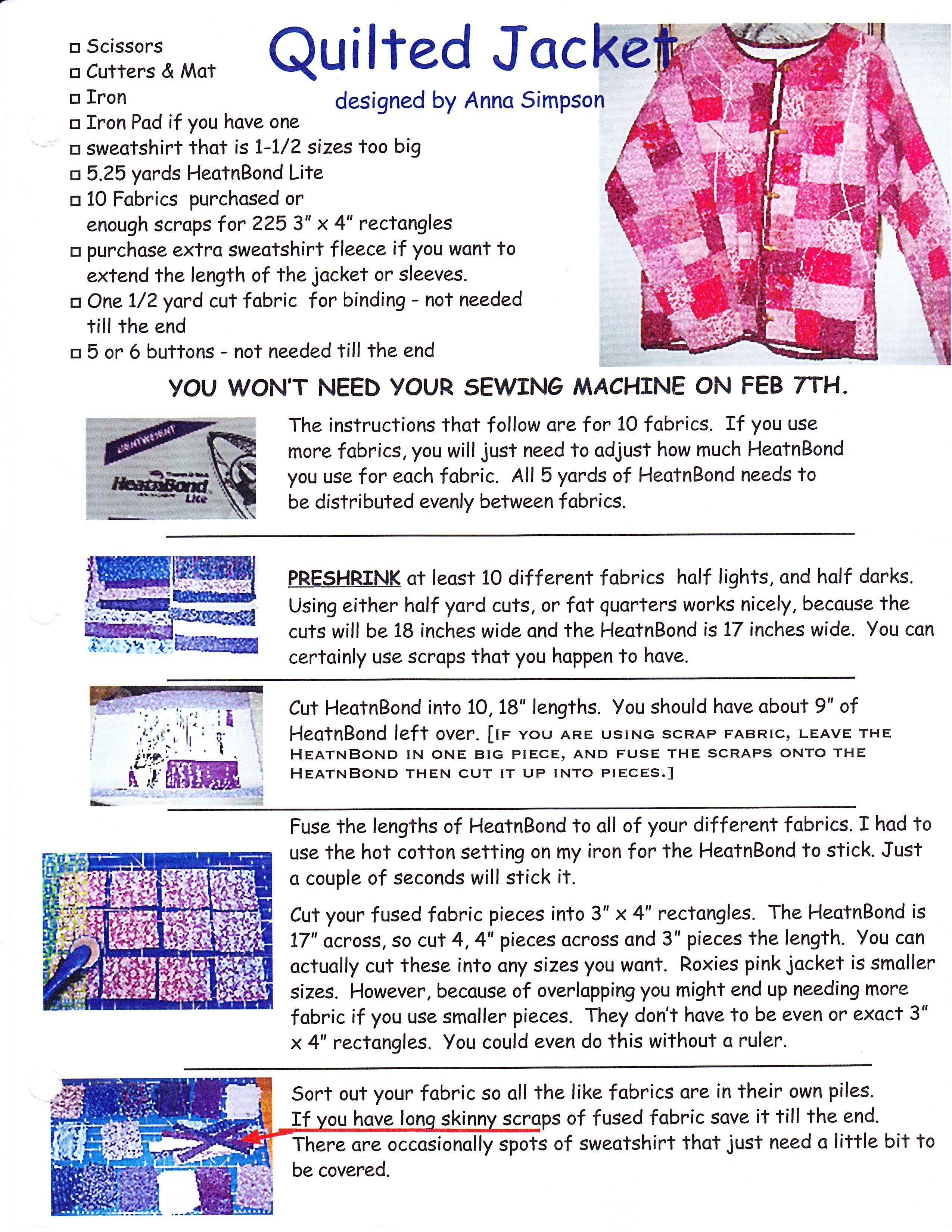Photobucket | ivory sweatshirt makeover jacket Pictures, ivory ... : quilted sweatshirt jacket - Adamdwight.com