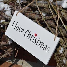 Skilt - I Love Christmas@pennfoster #bemorefestive #choosetobemorefestive
