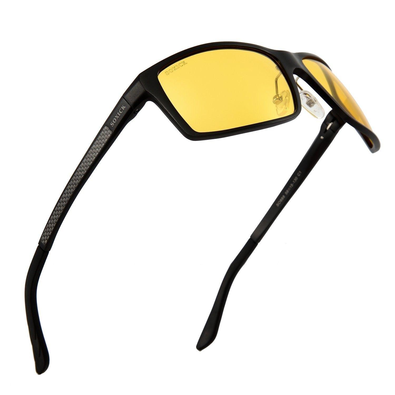 319a2c6834 Anti-Glare Polarized Yellow Lens Day   Night Driving Glasses for Men   Women  - Black - C21842CZM53 - Men s Sunglasses