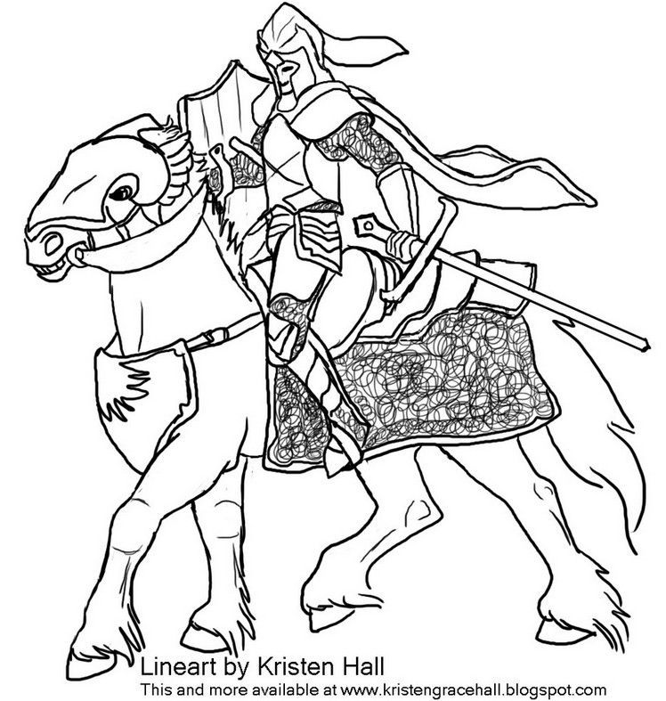 Coloring Page Knight Hd Horse Coloring Pages Horse Coloring