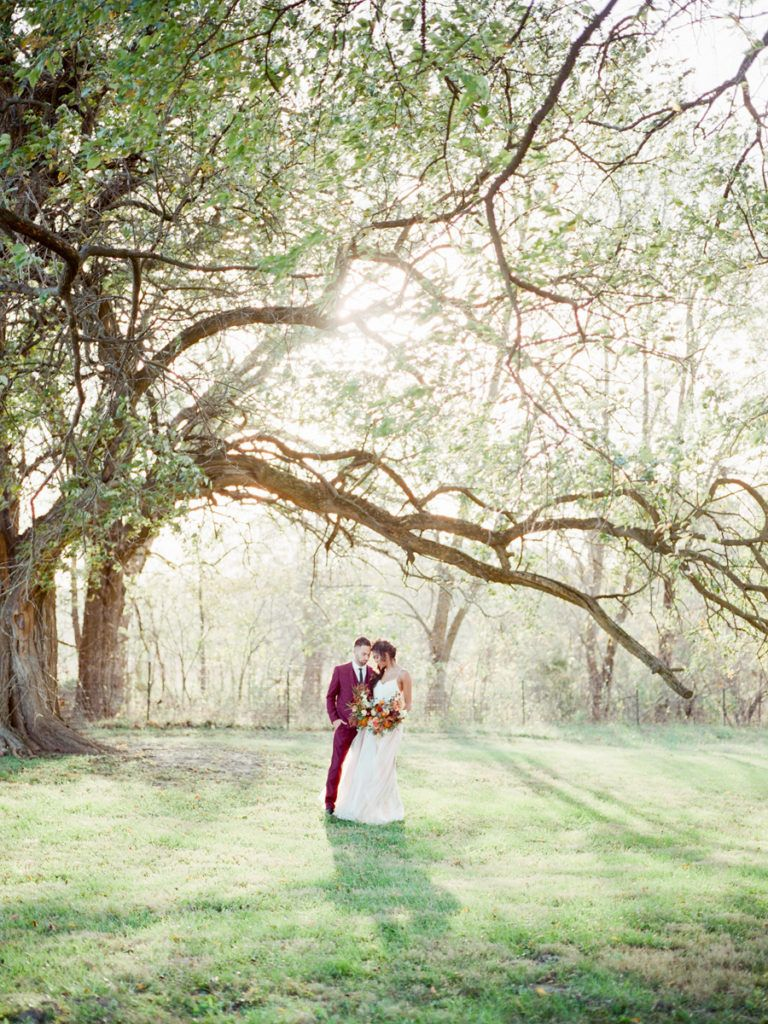 Catherine + Jordan's Blue Bell Farm wedding in Fayette