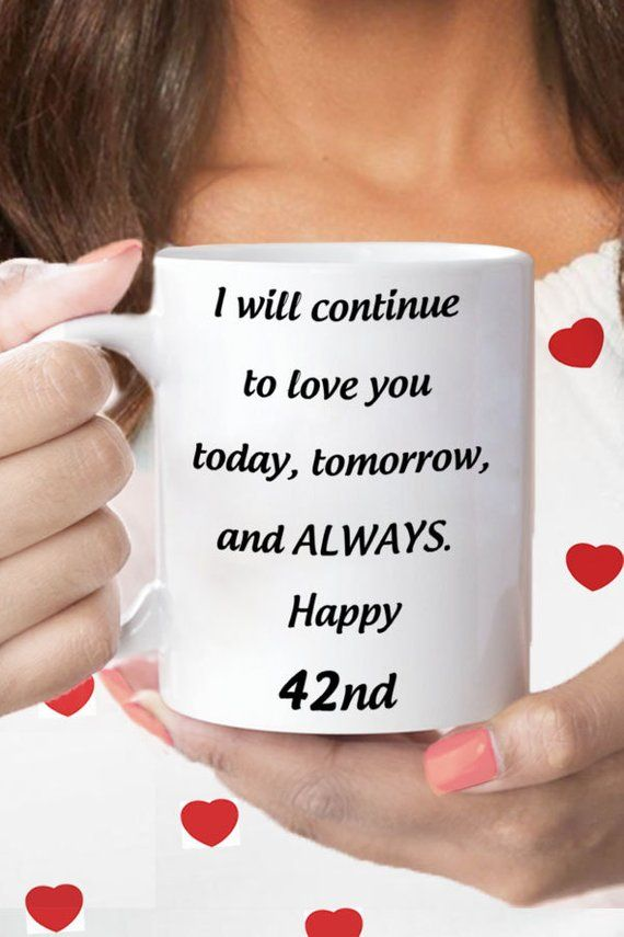 42nd Wedding Anniversary 42nd Anniversary Gift For Her 42nd Etsy