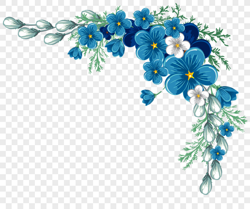 A Small Blue Flower Hand Painted Illustrations Material Flowers Plants Watercolor Flower Wreath Blue Flower Png Blue Flowers
