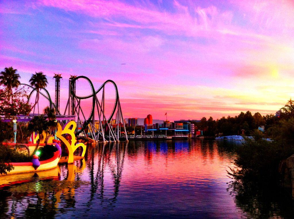 Sunset at Universal Studios, Orlando, FL Universal