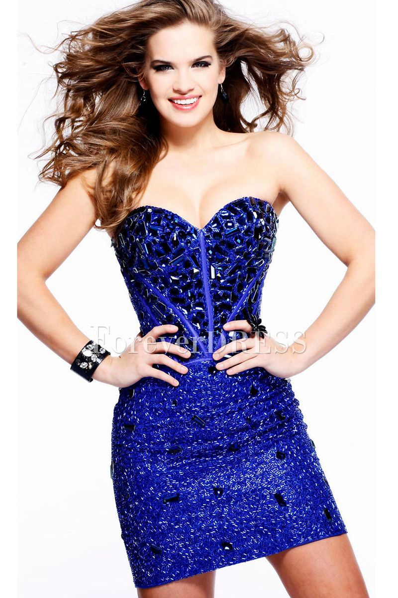 Sexy dark royal blue short prom dress prom pinterest royal