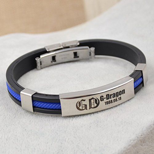 Kpop G Dragon Bracelet Bang Silicone Bangle Anium Steel Uni Wirstband 1 Pc Jewelry
