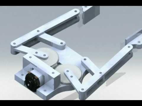 4 Bar Linkage End Effector Robot Gripper Animation