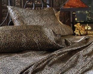 Cheetah Print Satin Sheets Queen Size | LUXURY LEOPARD Queen Size  Satin/Silk Bed Sheet