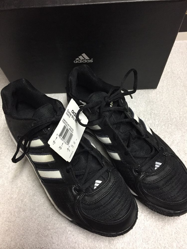 Adidas black white striped low top football cleats size sz