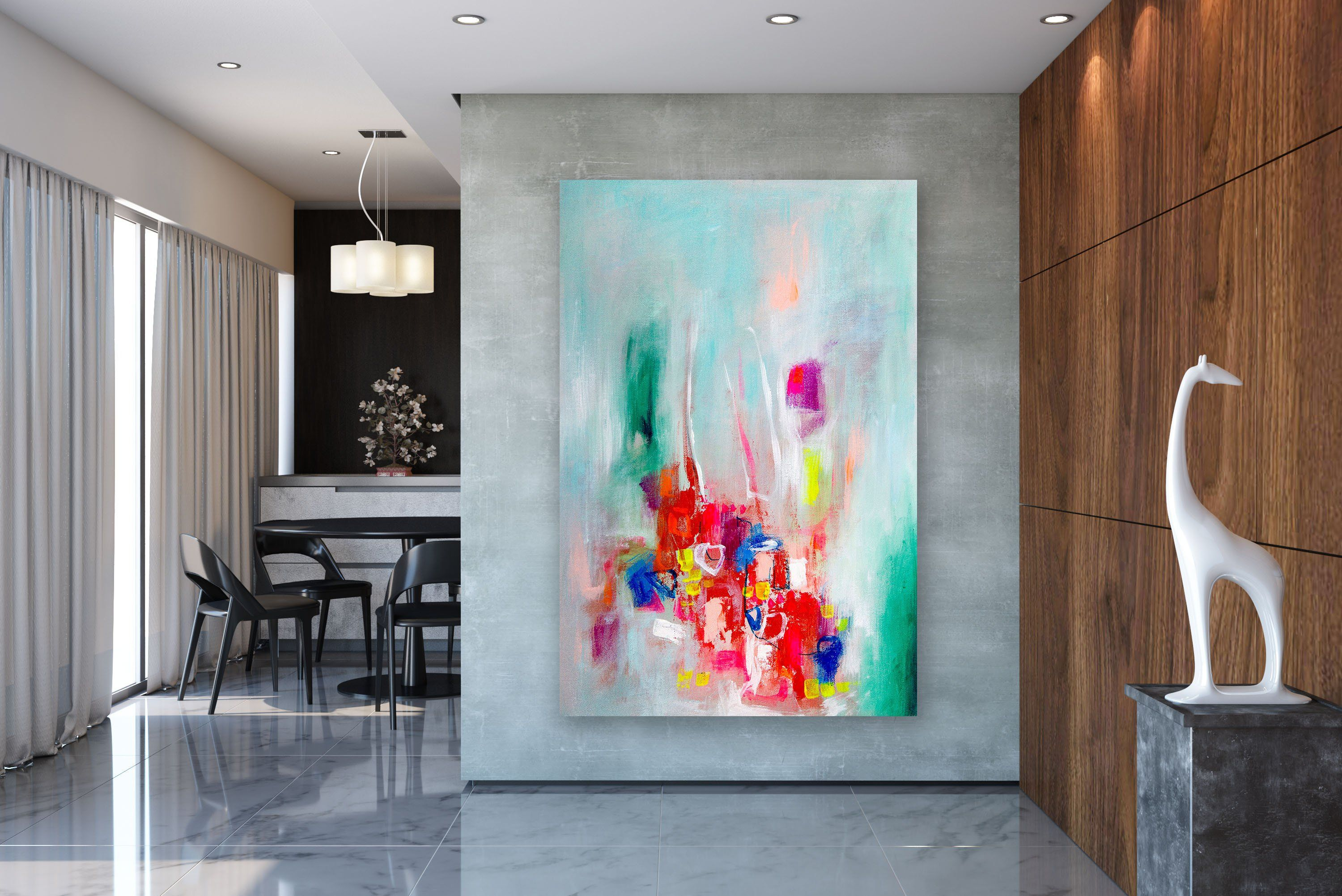 Large Abstract Painting Modern Abstract Painting Bright Painting Art Modern Wall Canvas Large Abs Large Abstract Wall Art Oversized Wall Art Modern Wall Canvas