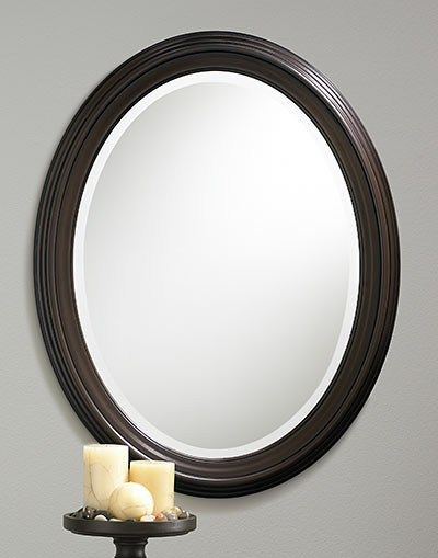 107 Oil Rubbed Bronze Oval Framed Beveled Mirror Beveled Mirror Mirror Bronze Mirror Oil rubbed bronze oval mirror