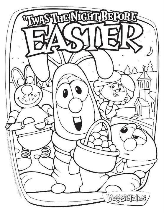 Veggietales Twas The Night Before Easter Coloring Page Easter Coloring Pages Easter Colouring Veggie Tales