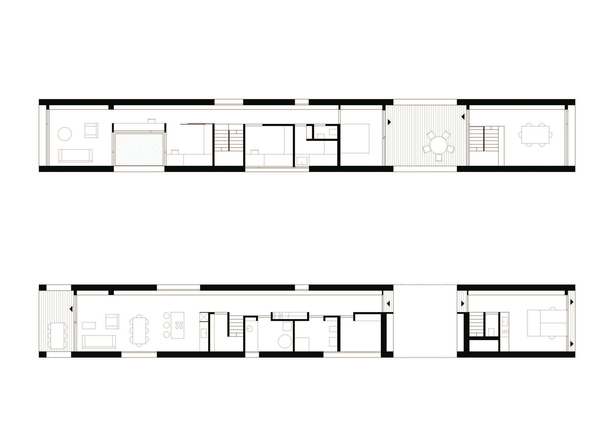schmale enfilade einfamilienhaus in sterreich einfamilienhaus schmal und architekten. Black Bedroom Furniture Sets. Home Design Ideas