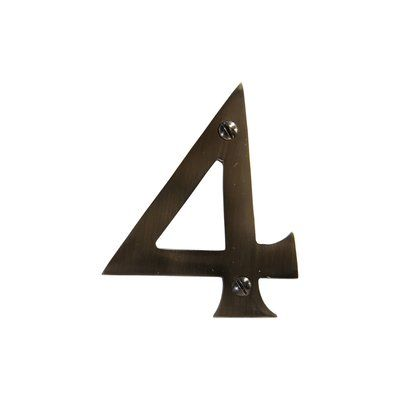 """RCH Supply Company 3"""" House Number Number: 4, Finish: Antique Nickel"""