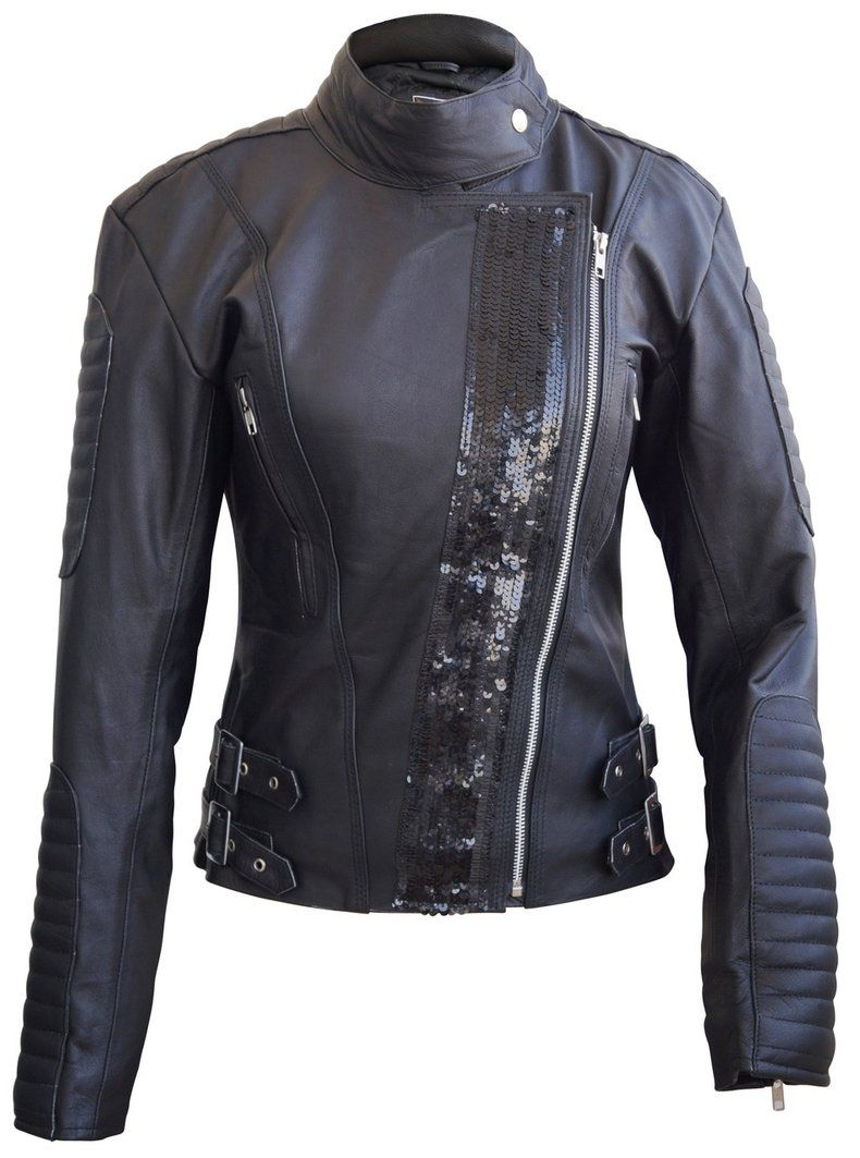 Leather Skin Women Black Genuine Leather Jacket With Black Stars Leather Jackets Women Leather Jacket Jackets For Women [ 1063 x 790 Pixel ]