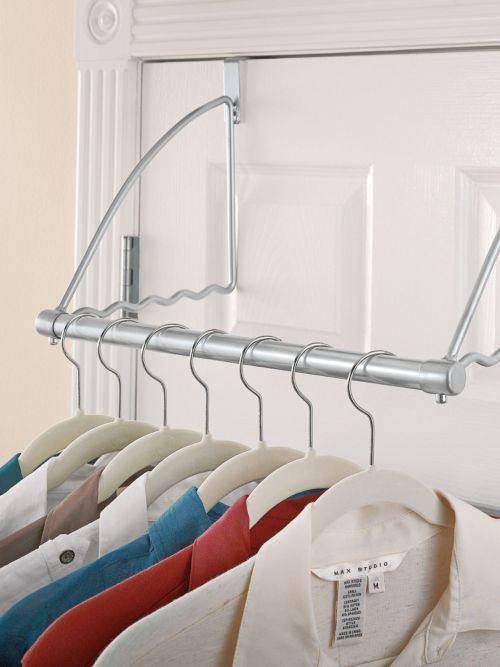 The Longstem white over the door/wall organizer is attractive enough to hang on a bedroom wall, inside a closet or hang over any door. Our Longstem organizer includes two door mounts and two wall mounts and a removable plastic tray with six compartments.